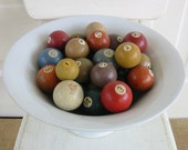 Vintage Pool Balls, Decorative Balls, Colored Balls, Numbered Balls, Pool Ball, Eight Ball, Pool Table Balls, colorful balls