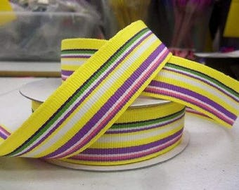Summer Stripe Grosgrain 7/8 inch x 10 yards ...On Sale Now..Use Code for 25% OFF