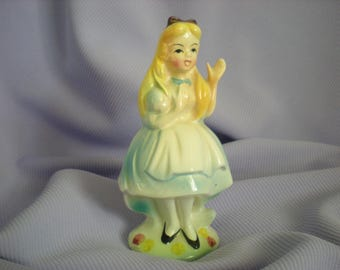 Vintage Alice In Wonderland- Alice Figurine-Alice Disney Character-Alice Through The Looking Glass