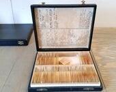Vintage Case of Adams Microscope Slides Human and Animal Pathology Anatomy