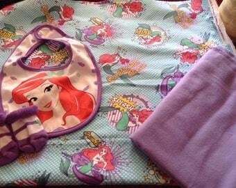 Little Mermaid Swaddling/toddler blanket