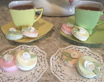 Artificial Macarons ~ French Pastries ~ Home Staging Food ~ Photo Prop Food ~ Fake Food ~ Fake Macarons ~Faux Cookies ~ Pastel  Cookies