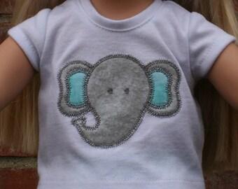 18 inch doll shirt- Elephant shirt for 18 inch dolls-doll shirt-elephant shirt