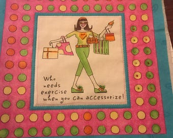 Fun fabulous Girl Groove fabric squares, ready for embellishment!