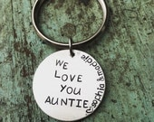 Hand Stamped Personalized Key chain Aunt, Uncle, Grandma, Grandpa, etc....