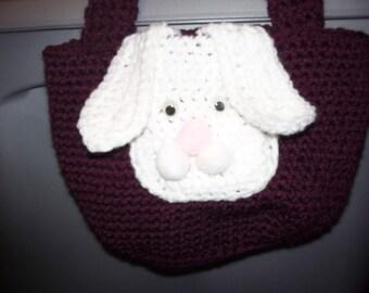 Crocheted bunny purse