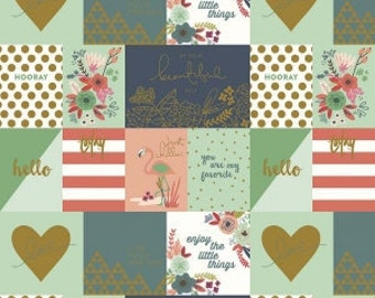 On Trend Notecards Coral Sparkle Metallic  - Jen Allyson for My Mind's Eye for Riley Blake Fabrics - You Select the Size