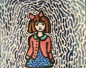 Patrilia Hand Painted Notecard