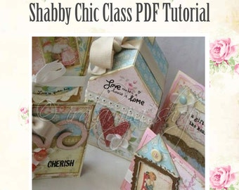 Shabby Chic Class Card Making and Paper Craft PDF Tutorial