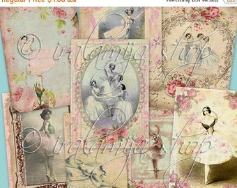 SALE BALLERINAS collage Digital Images  -printable download file-