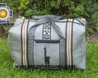 Alpaca Travel bag medium AMAUTA silver FREE SHIPPING