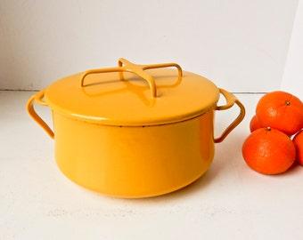 Dansk Casserole, Dansk Pot, Kobenstyle, Vintage Dansk, Dansk Yellow Casserole