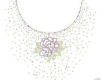 Rose Rhinestone Sweatshirt OR Long Sleeve Tee Shirt Small thru 3XL FREE SHIPPING Plus Sizes Too