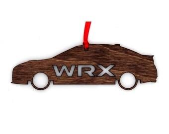Wooden Subaru WRX Sedan Ornament