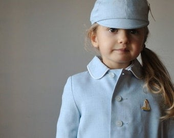 ON SALE NOS 1960s Sail boat Jacket with Cap~Size 12-18 months & 18-24 months/2t