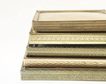 SALE Gold Frames Metal Frames Frame Lot Vintage Frames Picture Frames Wedding Decor