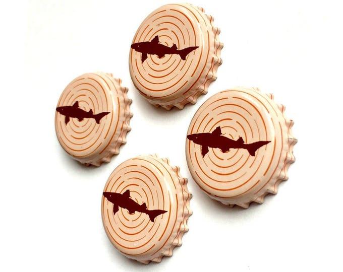 Craft Beer Magnet Set, Dogfish Head Brewery Magnets, Delaware Beer Bottle Top Magnets, Set of Four, File Cabinet Magnet,Refrigerator Magnets