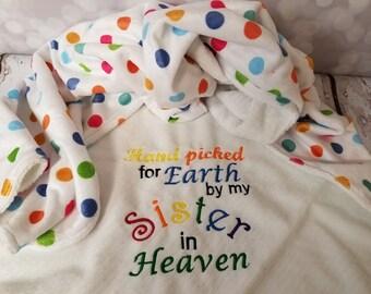 Raindow baby sister blanket