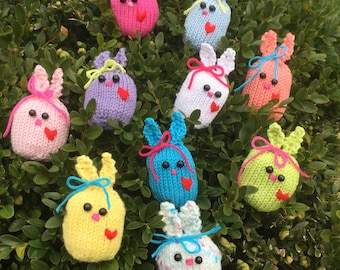 Hand-Knit Easter Bunny Assorted Colors