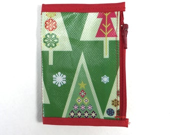 Micro Sized Zipper Pouch Travelers Notebook Little Trees Christmas insert
