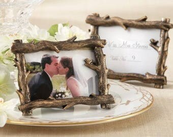 24 Scenic View Tree Branch Place Card Photo Holder Frame Wedding Favors Decor Supplies Jenuine Crafts