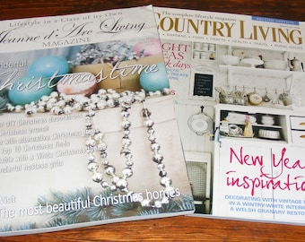 Jeanne d'Arc Living 12Th Issue December Christmas 2015 and British Country Living Jan 2011 Magazine Lot