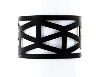 Lattice - Recycled Bicycle Inner Tube Cuff
