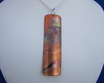 Flame Painted Copper Pendant (SKU 17-006)