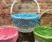 Easter Basket Liners - Monogrammed Personalized - Liner Only