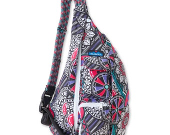 Monogrammed Kavu Rope Bags - Spring Hodge Podge - Great gift for College, Teens, Women, Outdoors Satchel Crossbody Tote