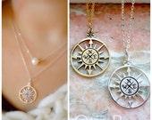 Compass necklace, True North, Graduation gift, compass charm, 2017 High School graduate, College grad, wanderlust, travel, otis b jewelry