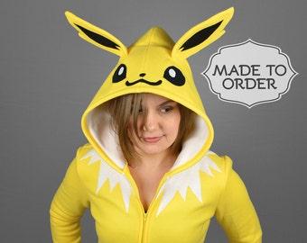 Jolteon Pokemon Costume Hoodie - Made to Order