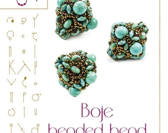 Beading tutorial / pattern Boje beaded bead Beading instruction in PDF – for personal use only