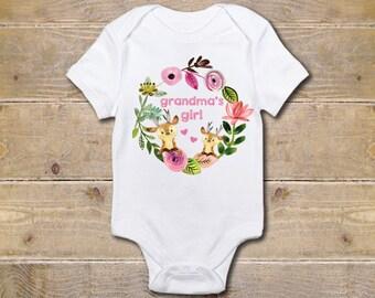 Grandma Onesie, Grandmother Onesie, Grandma's Girl, Gift from Grandma, Grandma Baby Clothes, Baby Shower Gift, Nana