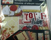 Love Scrapbook Mini Album Page Kit, 8x8, Mambi, Soft Spoken, Me & My Big Ideas, Stickers Paper Marriage Anniversary