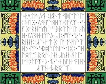 Short Runic Poem Cross Stitch Pattern - Professional Pattern Designer