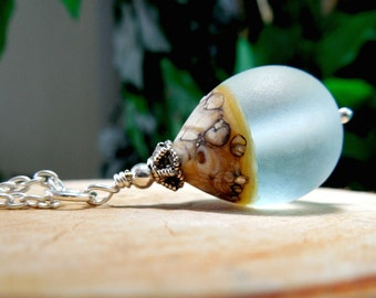 Glass Beach Droplet Necklace