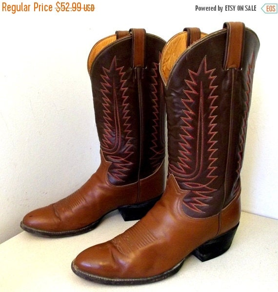 Vintage Tony Lama Cowboy Boot Size 105 B Or By