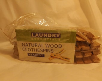 FREE SHIPPING wooden clothes pins natural wood clothespins Laundry Essentials (Vault 10)