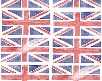 Union Jack Fabric - Jubilee Jack By Pennycandy - UK British Flag Novelty Cotton Fabric By The Yard With Spoonflower