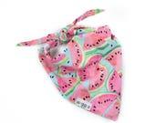 Watermelon dog bandana, handmade custom dog bandana, dog accessories, adjustable dog collar, large dog collar, small dog collar, medium dog