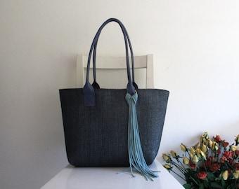 Straw Tote / Shoulder Bag / Beach Bag