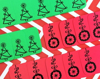 Christmas Ornament and Tree Stack Pack (20 mini cards/tags)