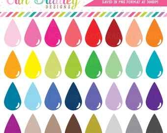Teardrops Clipart Instant Download Personal & Commercial Use Clip Art Graphics