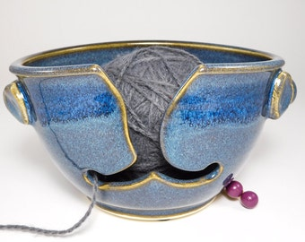 Bowl For Knitters - Yarn Pottery Bowl - Yarn Ceramic Bowl - Hand Made Yarn Bowl - Yarn Bowl Pottery - Crocheting Bowl - In Stock