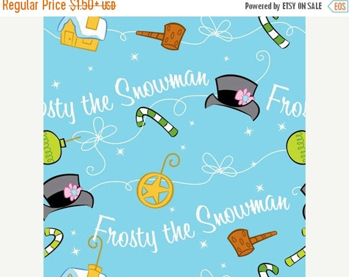On Sale Snowman Fabric Frosty The Snowman Silly Snowman Holiday Fabric