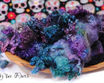 BERRY PARFAIT - Hand Dyed Wool Locks Border Leicester Fleece for Spinning or Felting - 2 oz increments