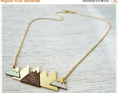 Cyber Monday Sale Short Arctic Necklace, signature necklace, snowy mountain pendant, Scandinavian design