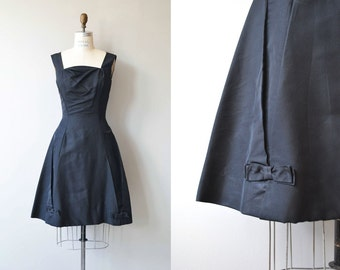 Harvey Berin dress | vintage 1950s dress | black silk 50s dress