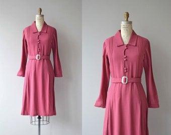 Jephson Hotel dress   vintage 1930s dress   wool 30s dress